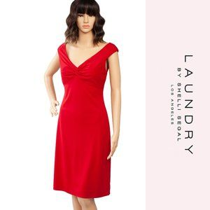 Laundry by Shelli Segal Red Cocktail Dress Size 4